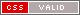 Ein Bildzeichen welches signalisiert, dass diese Seite valides CSS beinhaltet.