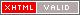 Ein Bildzeichen welches signalisiert, dass diese Seite valides XHTML 1.0 beinhaltet.